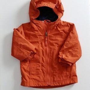L. L. Bean infant orange hooded jacket